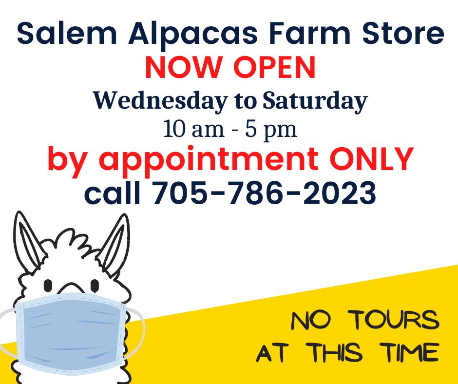 Salem Alpacas Farm Store Now Open